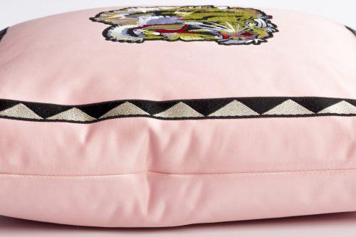 Pink satin lion
