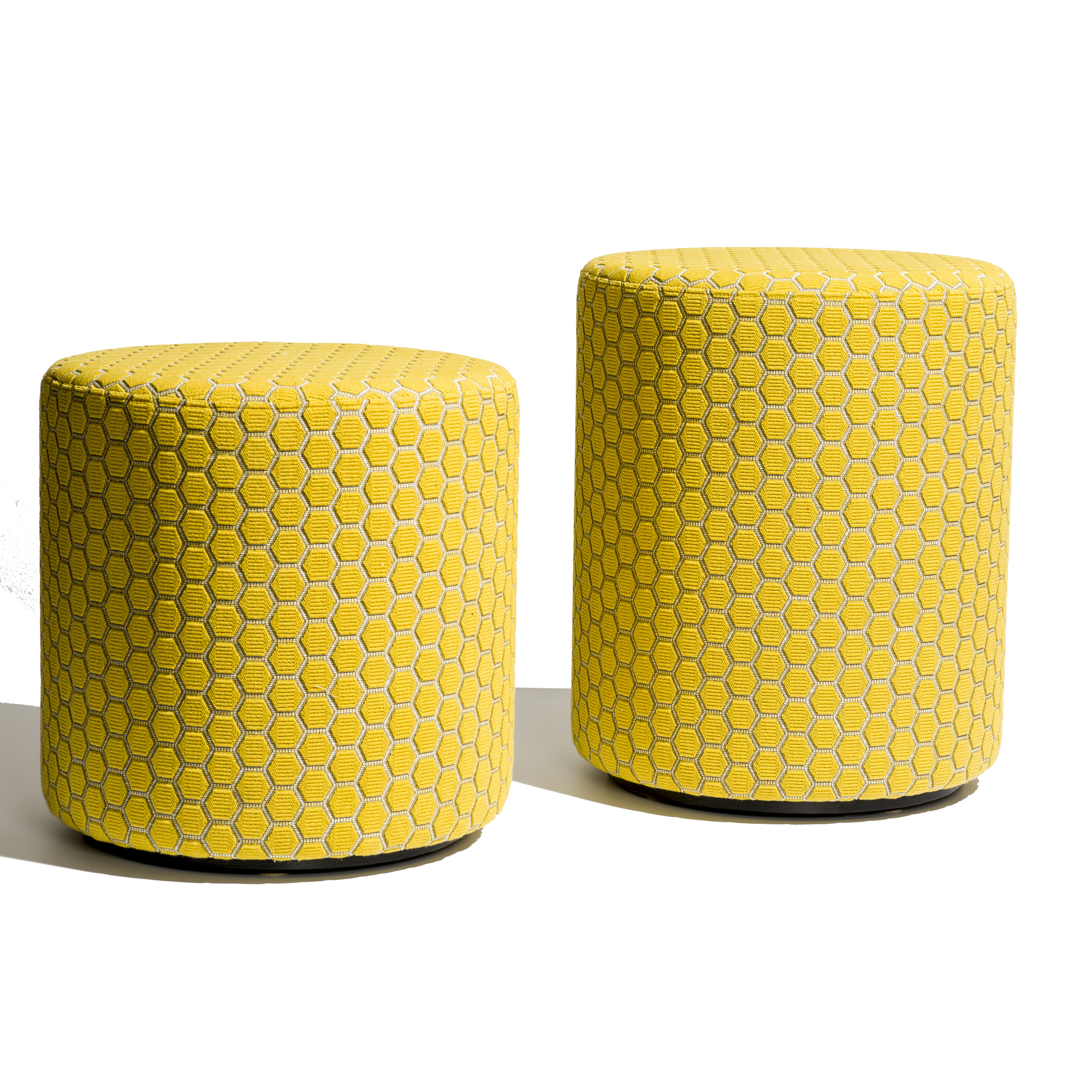Garnier Ledoux yellow pouffe